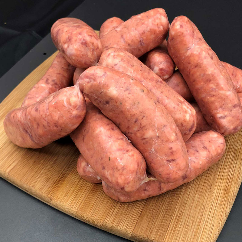 beef tomato & onion sausages chelsea quality meats