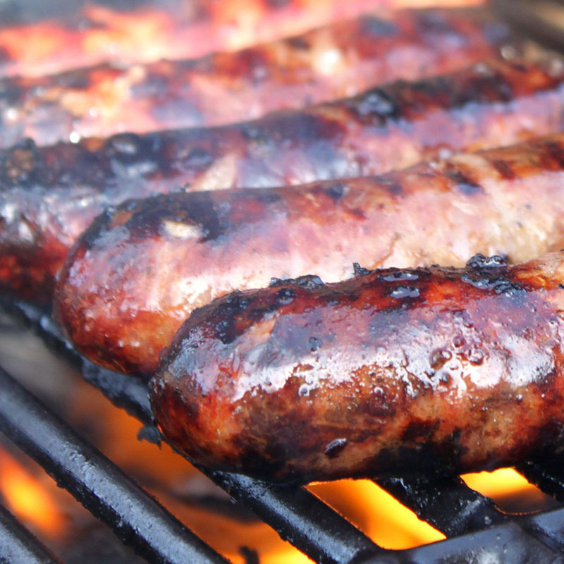 beef worchestershire cracked pepper sausages