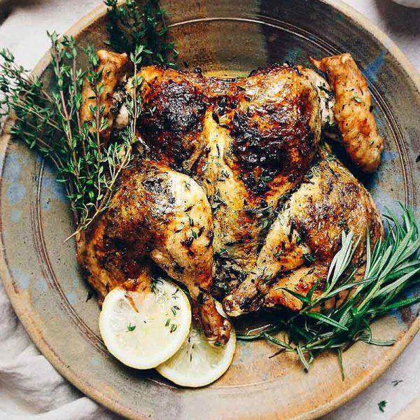 butterflied chicken lemon pepper